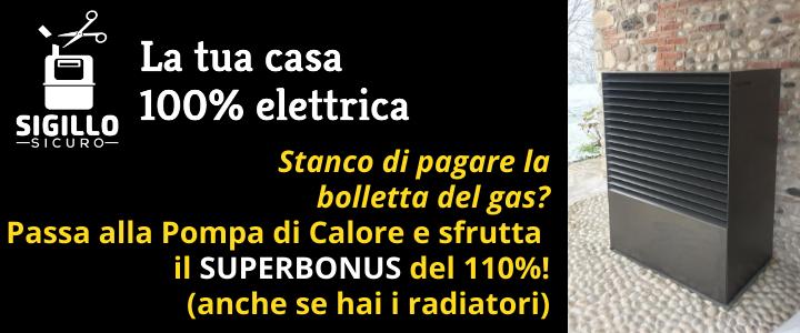 SIGILLO SICURO La tua casa 100% elettrica