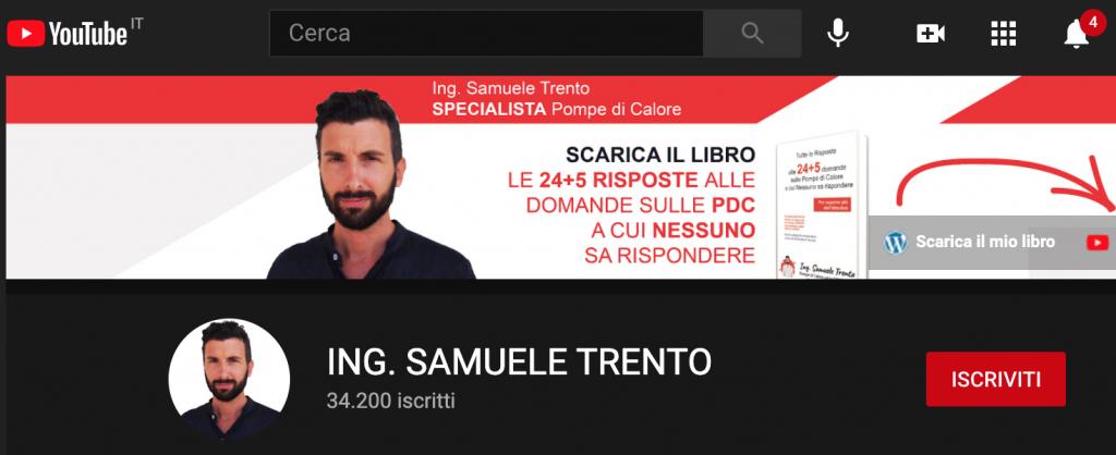 Samuele Trento e 34.200 iscritti al suo canale youtube