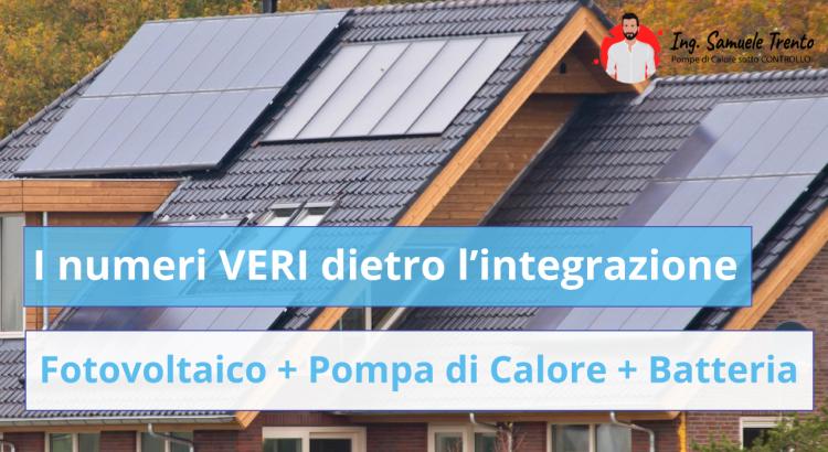 I numeri VERI dietro l'integrazione Fotovoltaico + Pompa di Calore + Batteria di Accumulo Stai per ristrutturare? Tutta la verità che i venditori di impianti non ti dicono (e la balla N.1 che invece sento troppo spesso!)